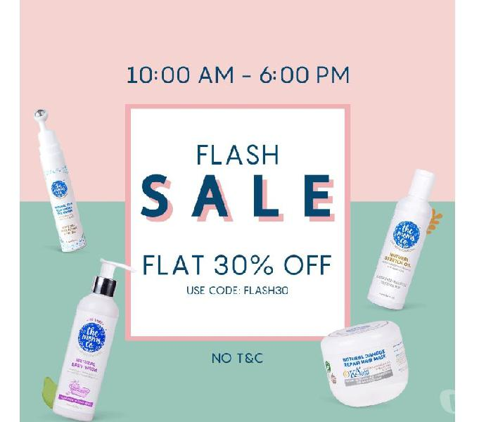 Grab flat 30% off at flash sale @ the moms co – use code