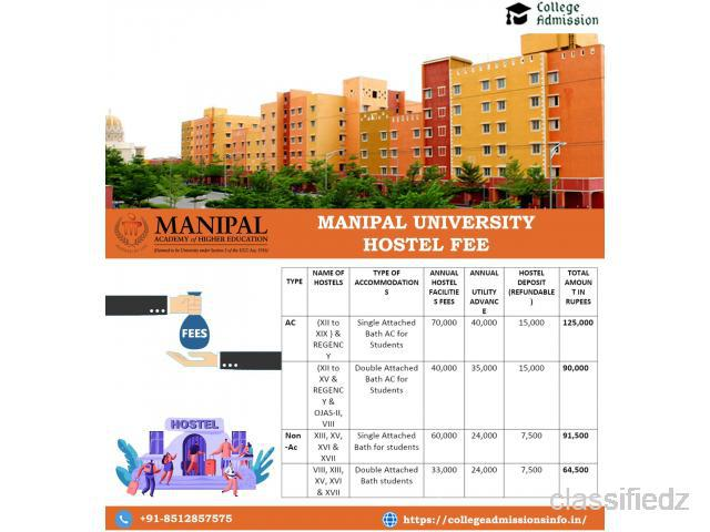 What is the manipal university hostel fee? noida