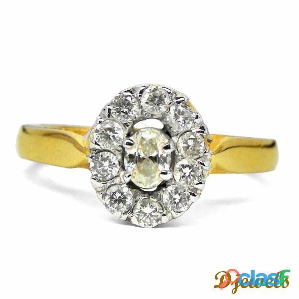 Roundish Diamond Ladies Ring