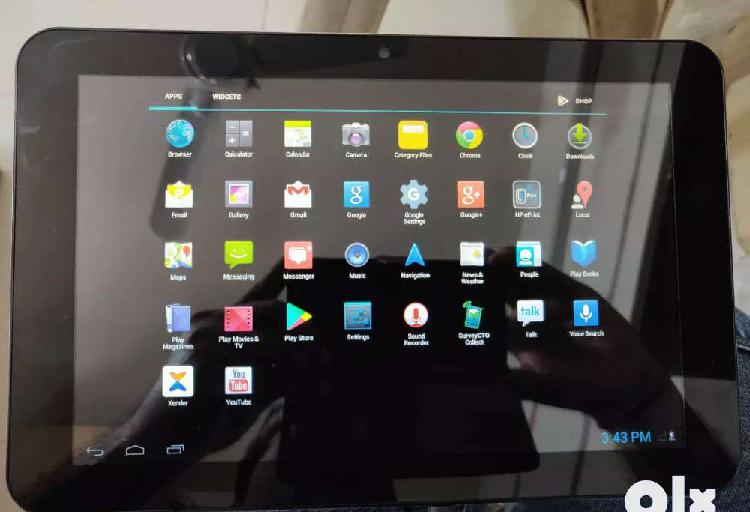 """Hp 10 1901 android black & silver tablet 10"""" display top"""