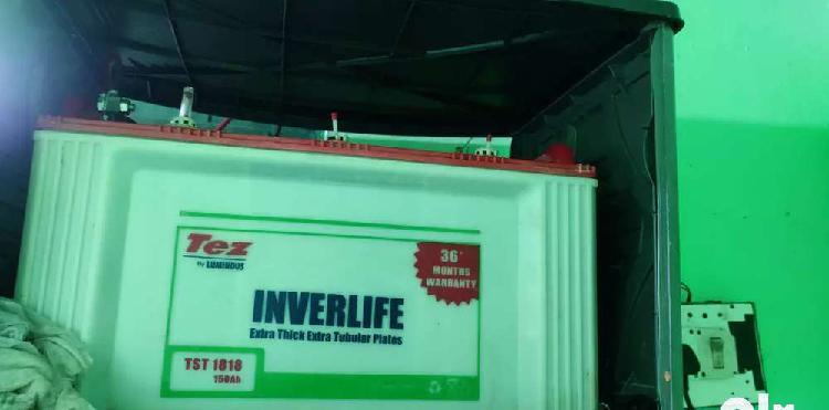 Luminous battery 150 ah 3 year old..