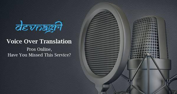 Voice over transation - writing / editing / translation