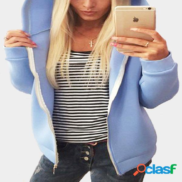 Light blue cute hooded outwear with two ears