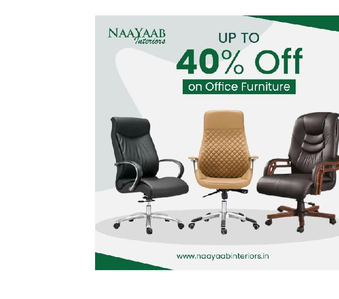 Buy office furniture at wholesale price - naayaab interiors