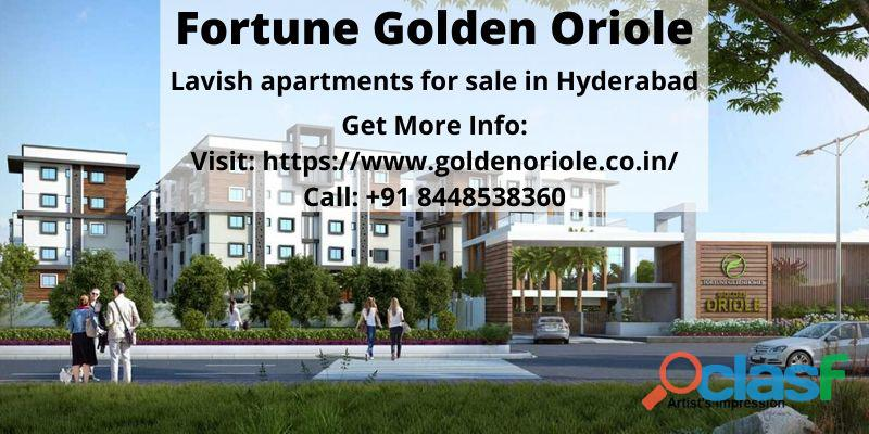 Lavish apartments for sale in Fortune Golden Oriole Hyderabad