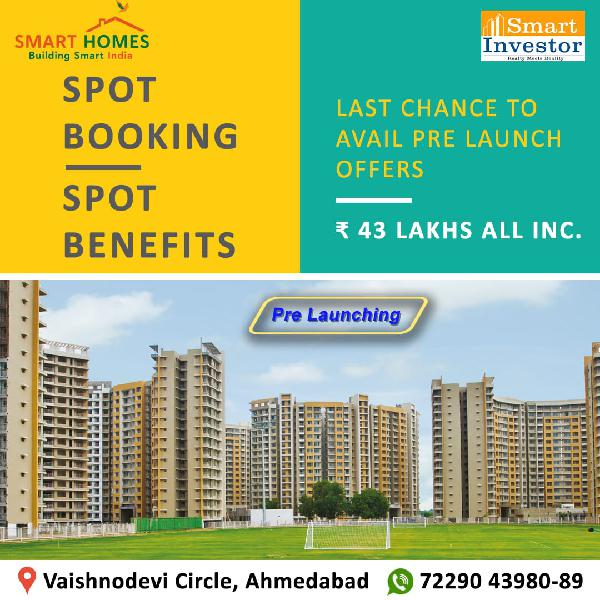 2 bhk flat in vaishnodevi circle at @ 43 lacs only