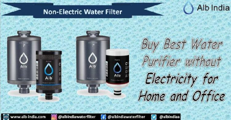 Buy best water purifier without electricity for home and