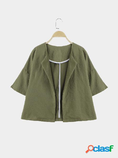 Army green easy-matched half sleeves coat