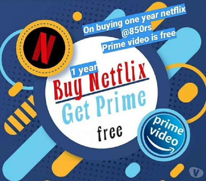 1 year of netflix subscription just for 850.