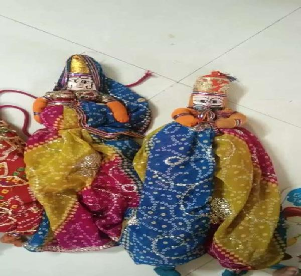Rajasthani indian puppet traditional dolla and pairs of