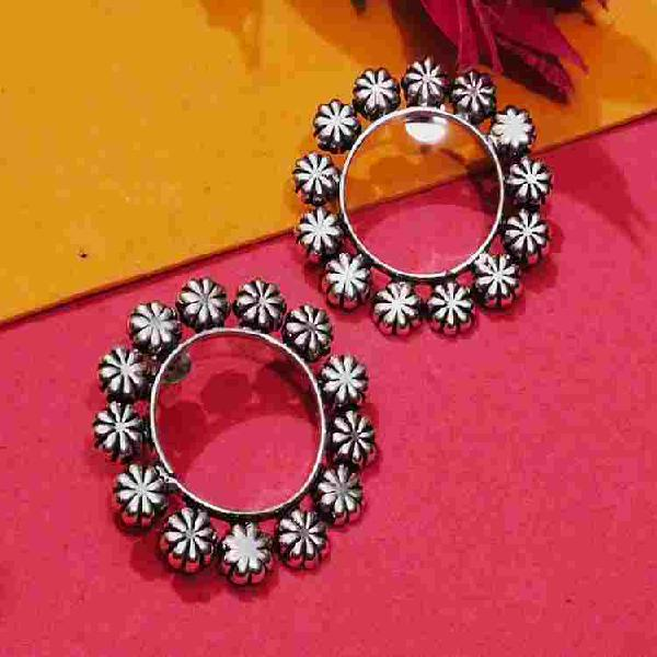 Shop stud flower earring at jheaps shopping