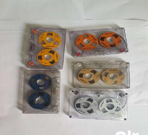 Vintage reel to reel audio tape recorder cassette