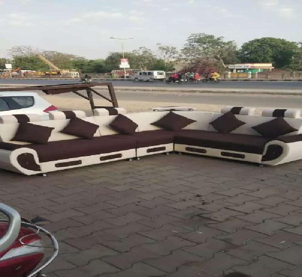 Corner sofa sets adjustable with pillow