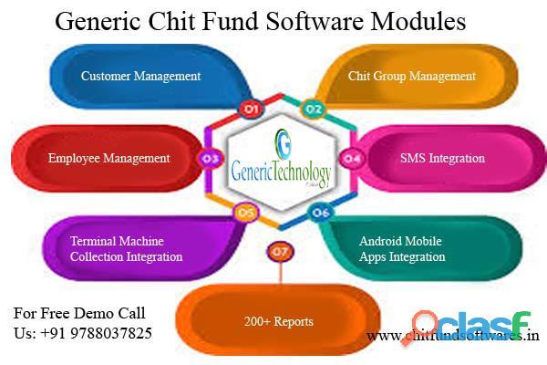Generic chit fund software modules