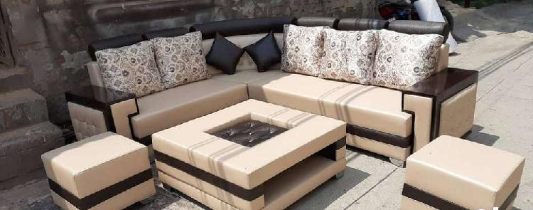 Brand new l shape sofa set with wooden arrm & stylish