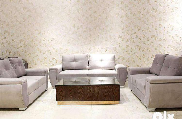 Brand new two, two & two seats sofa set with center table