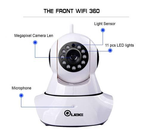 Wireless cctv camera with 360 degree rotation - electronics