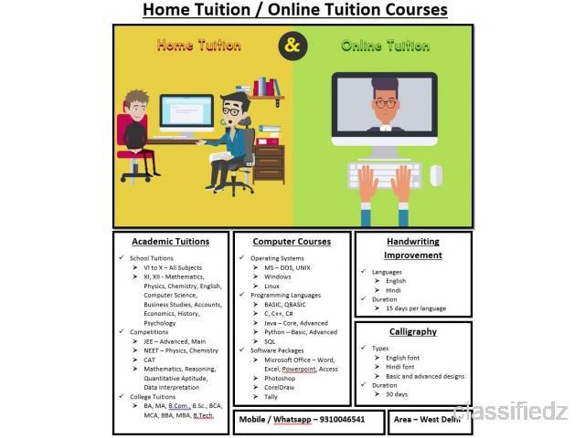 Home tuition online tuition school college handwriting
