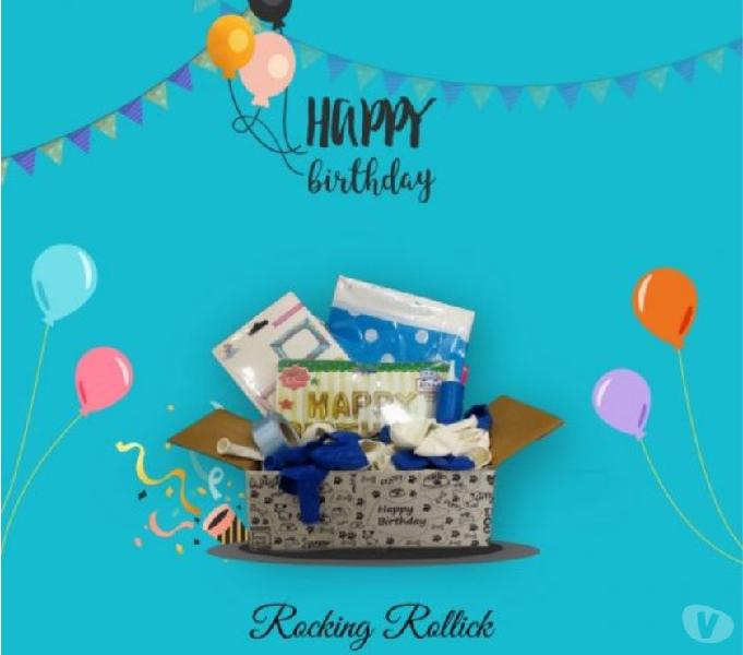 A new,rollicking,birthday decoration kit