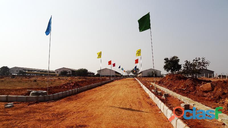 Four side open plot in Kothur