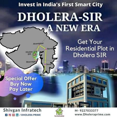 Dholera sir land investment buy 1 get 1 free plot offer -