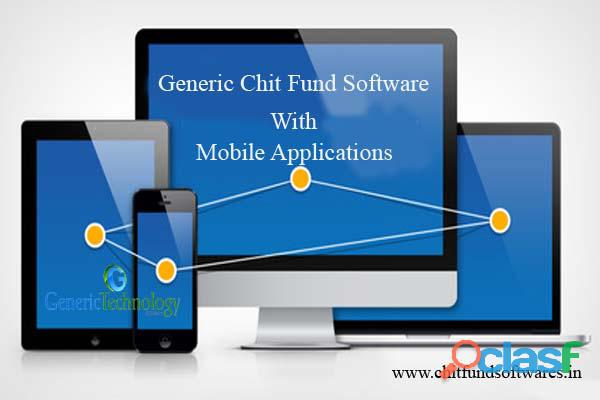 Generic Chit Fund Software With Mobile Application Support