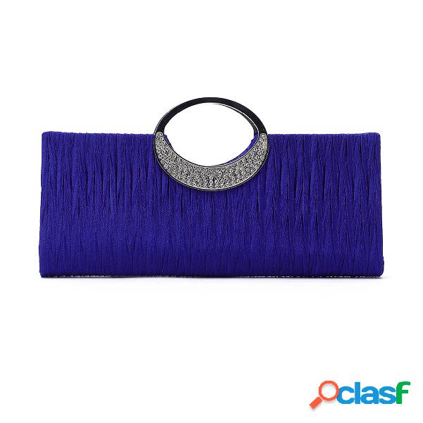 Blue fashion party clutch bags with chain strap