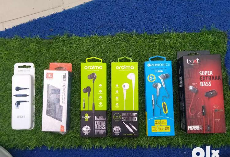 All branded earphones available now with warranty