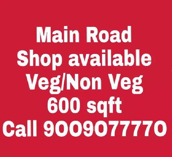 Shop available on veg-non veg restaurant ,cafe at sapna