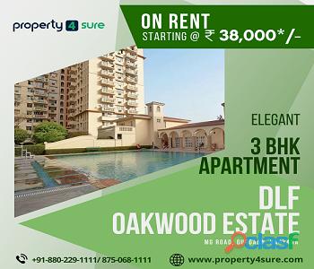 DLF Oakwood Estate for Rent on MG Road Gurugram | 3 BHK Apartments in Gurugram