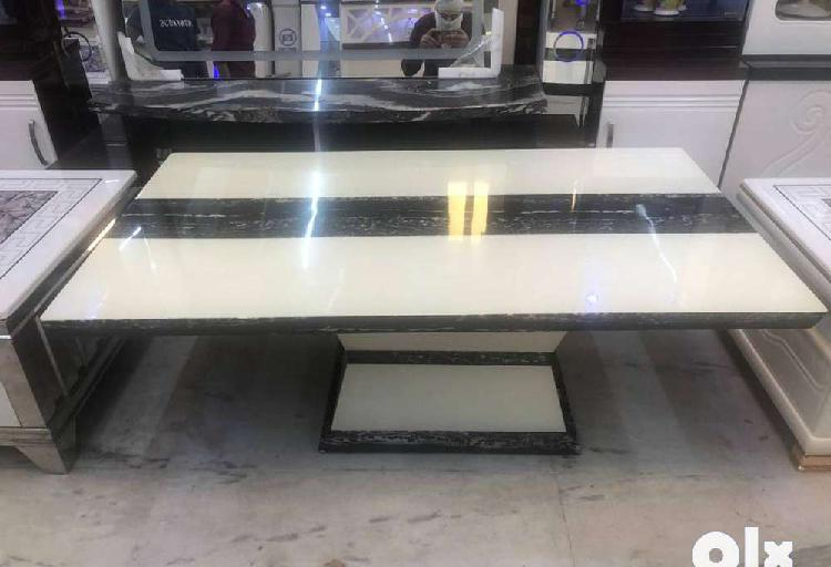 Brand new imported centre table with marble top/glass top