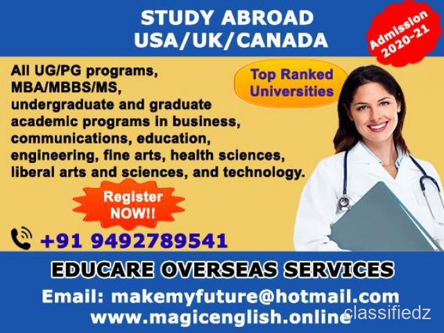 Study abroad usa/uk/canada kakinada