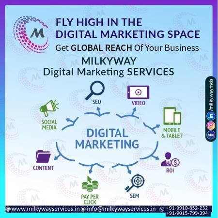 Milkyway digital marketing services company in noida -