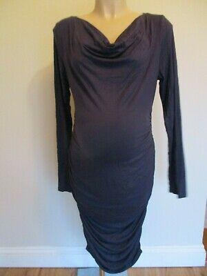 Pattyboutik maternity navy blue bodycon long sleeve dress