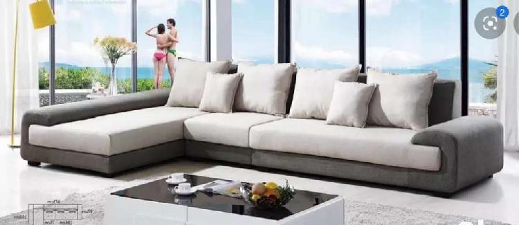 Brand new modern designer l shape sofa set with center table