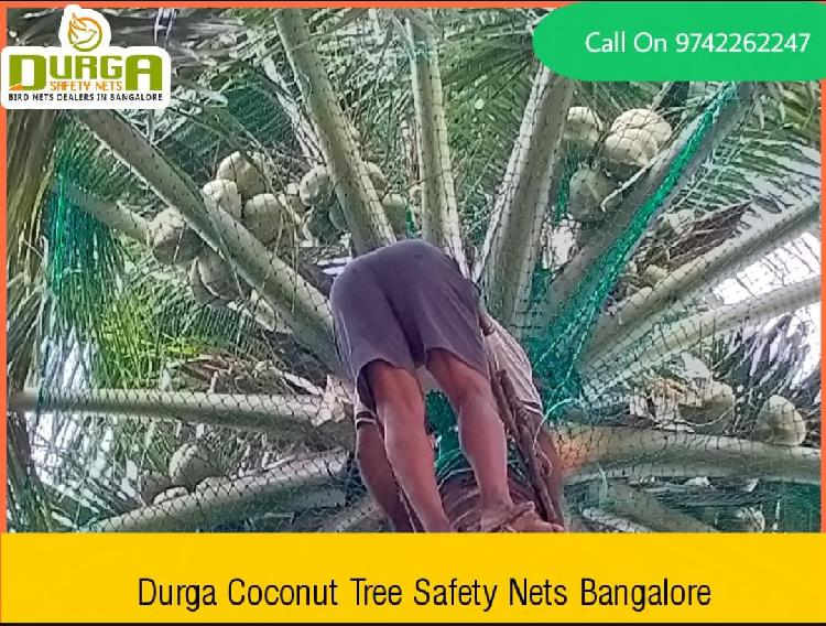 Coconut tree safety nets www.balconysafetynetbangalore.co.in