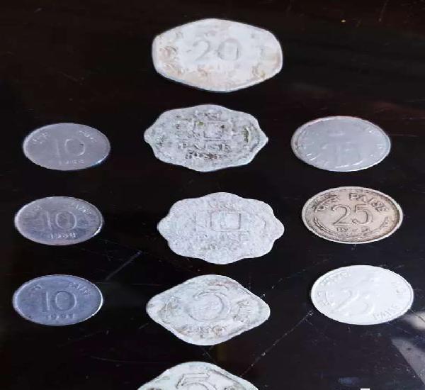Old coins ( 5 paisa, 10 paisa, 20 paisa, 25 paisa )