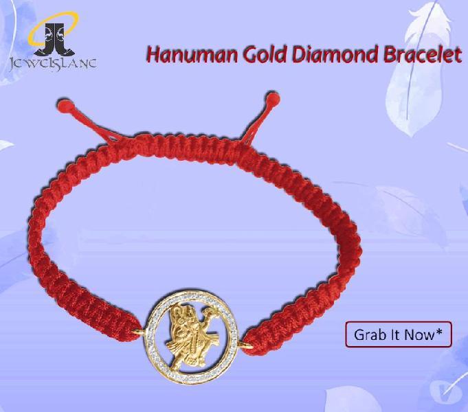 Hanuman gold diamond bracelet