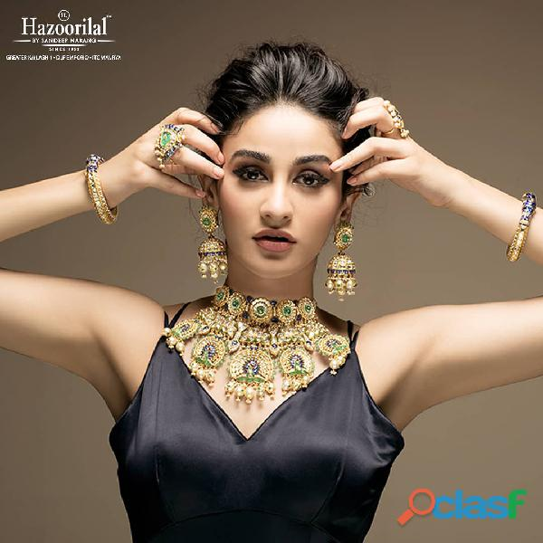 Hazoorilal engagement jewellery sets