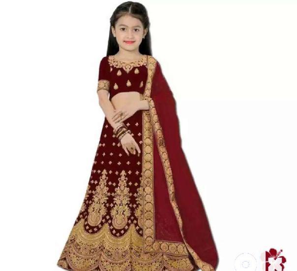 Flawsome elegant kids girls lehanga cholis