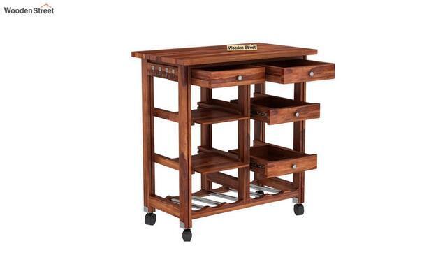 Find kitchen trolley designs online wooden street