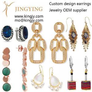 Custom earrings zirconia 925 silver fine jewelry oem supplie