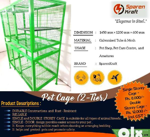 Pet cage galvanised tube