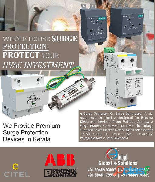 Lightning Protection Surge Arrestor Supplier in Kochi, Kerala surge protection device   Surge Protec
