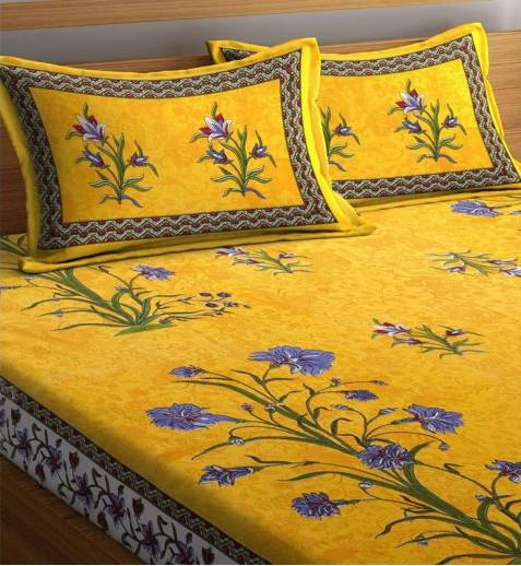 Exclusive collection of double bed sheets at wooden street.