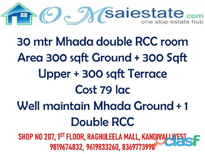 independent mhada duplex house for sale in gorai