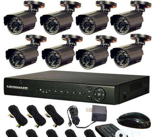 Cctv camera hd 8 nos free installation