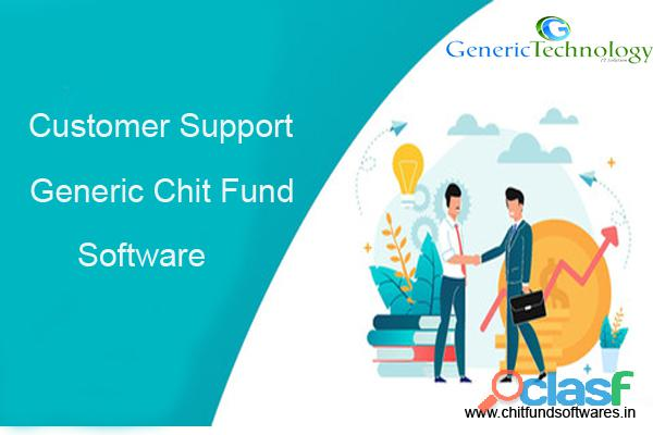 Customer support generic chit fund software