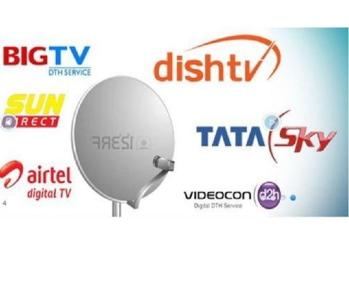 Compare all in one dth plans (airtel, tata sky, dish tv