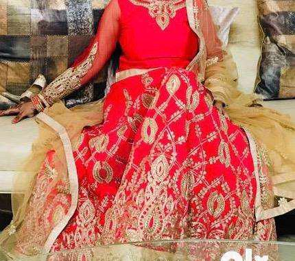 Hot pink beautiful lehnga choli /price negotiable